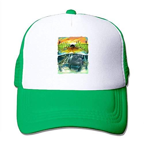 ARTOPB Funny Hat Baseball cap Mesh Baseball Caps Fish in Paddy Field Unisex Adjustable  Sports Trucker d484caf43ef
