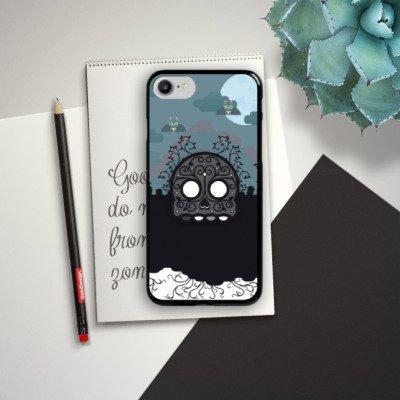 Apple iPhone X Silikon Hülle Case Schutzhülle Skull Friedhof Grave Hard Case schwarz