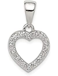 98d65afd4 925 Sterling Silver Cubic Zirconia Cz Heart Shape Pendant Charm Necklace  Love Fine Jewelry Gifts For…