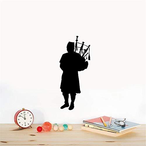 Wandaufkleber Kinderzimmer Dudelsack-Pfeifer-Musikinstrument schottisches Schottland -