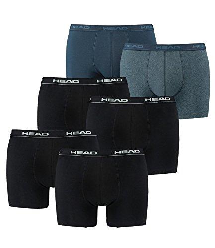 HEAD Basic Boxershorts - 6er Pack 2x2er Black / 1x2er Blue Heaven