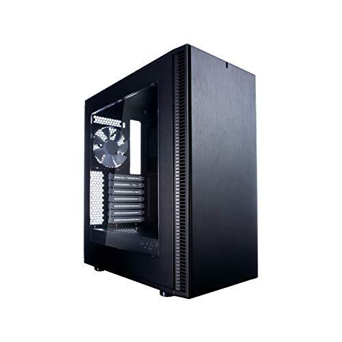 Fractal Design Define C Verre trempé - Compact Mid Tower Boite d'ordinateur - ATX - Optimisé pour Un débit d'air élevé et Une Informatique Silencieuse - 2X 120mm Silent Ventilateurs Inclus - Noir TG