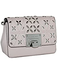 d3e9bffe93b1 Michael Kors Tina Stud Small Clutch Bag Crossody Blossom Pink Floral  Perforated