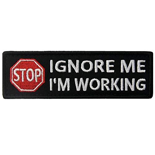 Service Dog Stop Warnwesten/Geschirre Patch Bestickt Badge Verschluss Haken & Schleife Emblem Ignore Me