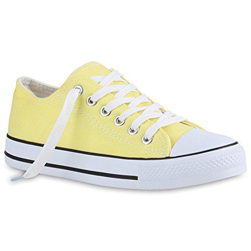 Herren Sneakers | Freizeitschuhe Sportschuhe | Schnürer Stoffschuhe |Fitness Streetstyle | viele Farben Gelb