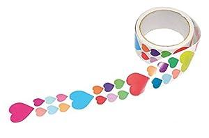Playbox - Pegatinas en rollo (Hearts) - 870 pcs - (PBX2470973) , Modelos/colores Surtidos, 1 Unidad