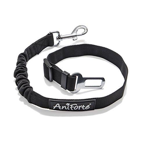 AniForte Sicherheitsgurt für Hunde, Anschnallgurt mit elastischer Rück-Dämpfung höchste Sicherheit, Hundegurt fürs Auto für Kleine und große Hunde für Autositz, Rücksitz