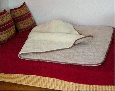 Preisvergleich Produktbild Bettdecke, Wolldecke aus reiner Merino Wolle beige/hellbraun, waschbar bei 30 Grad, ca. 220x200 cm
