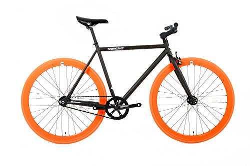 FabricBike- Vélo Fixie Noir, Fixed Gear, Single Speed, Cadre Hi-Ten Acier,...