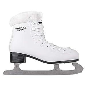 WORKER Damen Eiskunstlauf Schlittschuhe SIBIRI weiß Gr. 36, 37, 38, 39, 40, 41, 42, 43 ThermoFit-Innenfutter
