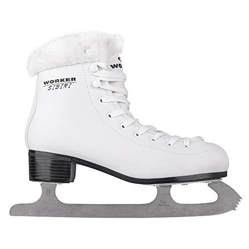 WORKER Damen Eiskunstlauf Schlittschuhe SIBIRI weiß Gr. 42 ThermoFit-Innenfutter