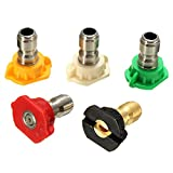 HITSAN 5pcs 4.0 GPM High Pressure Washer Rotating Turbo Nozzle Spray Nozzles Tips For Watering Tools One Piece