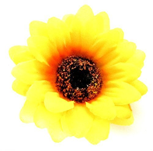 Large Yellow Sunflower Hair Clip Flower Festival Boho Rockabilly 1950s Daisy Exclusively Sold By Starcrossed Beauty h45 by Starcrossed Beauty