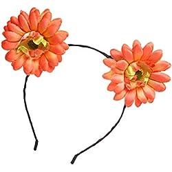 TOYANDONA Una cabellera femenina,linda imitación de margaritas,Corona,anillos para la boda.