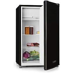 Klarstein Samara Réfrigérateur - capacité totale 120L, classe d'efficacité énergétique A+, bac à légumes, étagères en verre, 3 compartiments de porte, noir