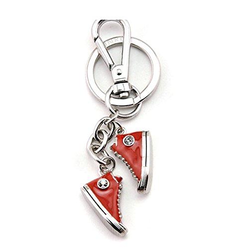 Cs Porte-clés Toile Chaussures Couple Voiture Porte-clés Sac Pendentif Porte-clés Incrustation De Cristal