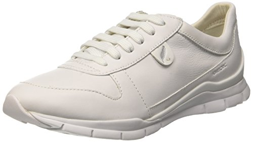 Geox D Sukie A, Women's Sneakers, White (Whitec1001), 4 UK (37 EU)