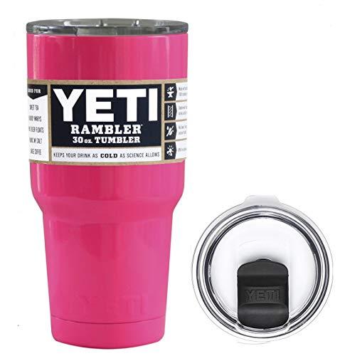 e198aaf80e4 YETI Coolers 30 Ounce (30oz) (30 oz) Custom Rambler Tumbler Cup Mug Bundle  with New Magslider Lid (Hot Pink Neon)