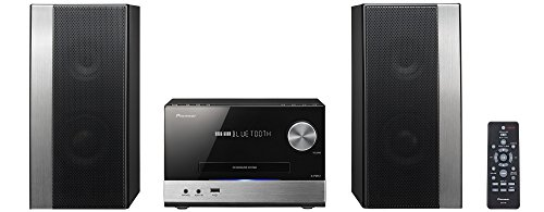Pioneer X-PM12 Sistema Power Micro Hi Fi CD, USB, FM, Bluetooth, Nero/Antracite