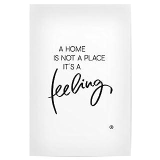 artboxONE Poster 30x20 cm Typografie Feeling Home hochwertiger Design Kunstdruck - Bild Typografie von m.Belle