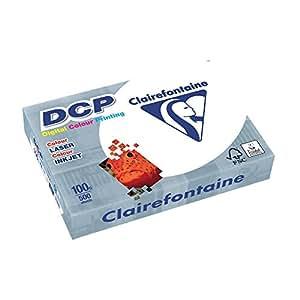 Clairefontaine 1821 DCP Druckerpapier (500 Blatt in DIN A4 mit 100 Gramm/Premium Kopierpapier für farbintensiven Bilderdruck) weiß