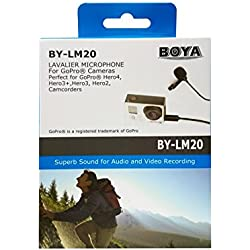 BOYA BY-LM20 Microphone Lavalier omnidirectionnel pour GoPro HERO4,3+,3,DSLR Cameras