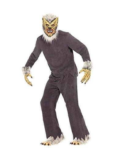 Smiffy's 31460 - Werwolf Kostüm mit Shirt Hose Füße Hände und Schaumlatexmaske, (Shirt Kostüm Werwolf)