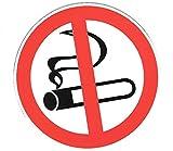 Warenfux24 10 Aufkleber Sticker Rauchen Verboten 9,5 cm Nichtraucher Rauchverbot No Smoking