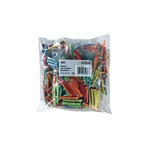 Herlitz-10733384-Nieten-500-Stck-farbig-sortiert-bedruckt-mit-lustigen-Sprchen