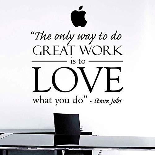 Stycars®, Wall Stickers Steve Jobs Inspired Art Decor - The Only Way To Do  Great Work Is To Love What You Do Office Inspirational Wall Decal Sticker
