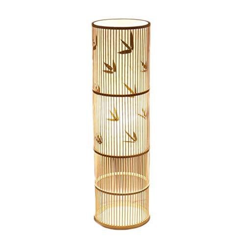 Hause Lampe Rattan Stehleuchten, Wohnzimmer Schlafzimmer Studie Kreative Persönlichkeit Japanischen stil Stehlampen (E27) (Größe : 28 * 100cm) -