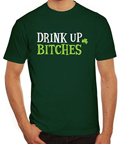Saint Patrick´s Day St. Patricks Day Herren T-Shirt mit Drink Up Bitches Motiv, Größe: (Patricks Shirts St)