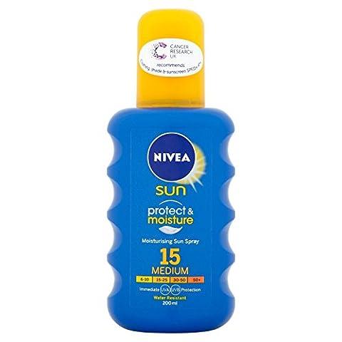Nivea Sun Immediate Protection Moisturising Sun Spray SPF15 200 ml