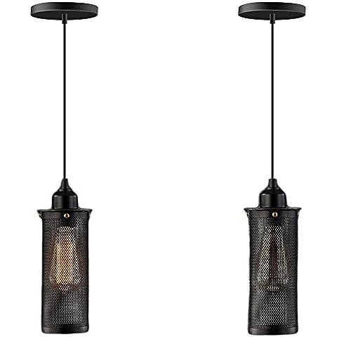 CAC Vintage Ciondolo lampada luce Home Decor Paese lampade in ferro retrò Le luci pendenti E27 110-220 V Caffetteria Ristorante decalcomanie