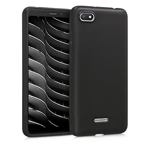 kwmobile Xiaomi Redmi 6A Hülle - Handyhülle für Xiaomi Redmi 6A - Handy Case in Schwarz matt