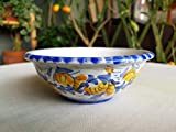 Ciotola in ceramica siciliana decorata a mano. Bomboniera. Portagioie. Ciotola per cereali in ceramica fatta a mano. Le ceramiche di Ketty Messina.