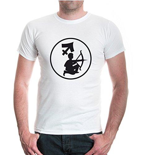 buXsbaum® T-Shirt Schütze-Tierkreiszeichen White-Black