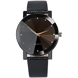 Men Wrist Watch - Kingwo Luxury Quartz Sport Military Stainless Steel Dial Leather Band Wrist Watch Men