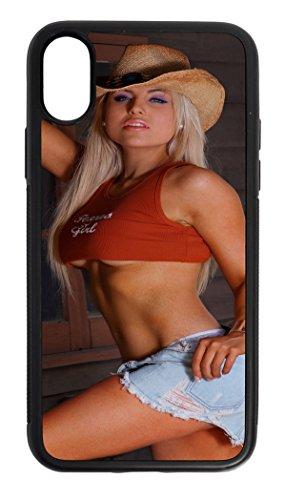 (LEotiE SINCE 2004 Handy Schale Passend f�r iPhone X Sexy Girl Sexy Girl Pin up Blond)