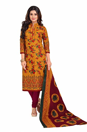 Miraan Printed Unstitched Cotton Dress Material And Churidar Suit For Women (BAND1603)