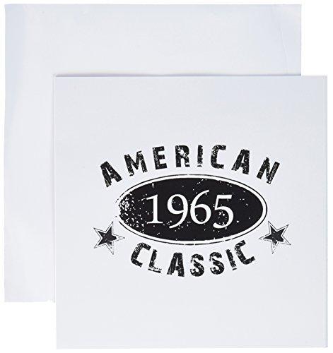 1965American Classic-Geburt Jahr-Schwarz Grunge Vintage-Grußkarte, 15,2x 15,2cm, Single (GC 161779_ 5) -