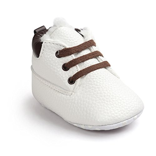 Baby Herbst Beiläufige Hohe Top T-gebunden Suede Krippe Sneakers Boots Winter Lichi White