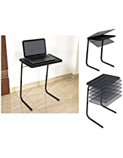 Gadget Wagon Table Black Strong and Sturdy for Studies, Laptop, Patient Dining, Foldable, Multi Purpose