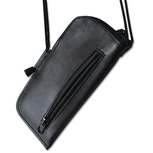 Custodia in pelle nera Lava 3G 402+ Custodia Portafoglio sacchetto Custodia Cover Case Mini Borsa Messenger