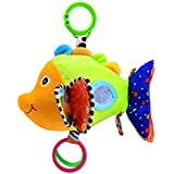 NUOLUX Baby Toys Stroller Car Seat Toy Stroller Bell Hanger Infant Bed Cot Hanging Toys with Ringing Bell (Fish)