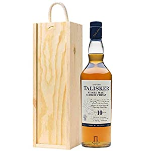 Talisker 10 YO Whisky in Wooden Gift Box by Talisker