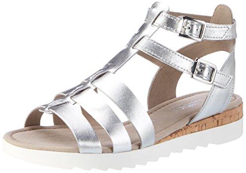 Gabor Shoes Damen Comfort Römersandalen, Silber (Silber (Kork) 10), 38.5 EU