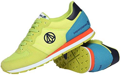 Paperplanes unisexe coloré - 1142 Plateau à chaussures de sport d'entraînement Vert - 1142-1-Green Blue