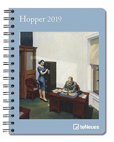 Hopper 2019 - Buchkalender, Taschenkalender, Kunstkalender 2019 - 16,5 x 21,6 cm - Deluxe-hopper