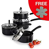 ProCook Gourmet Non-Stick - Batterie Set 4 Casseroles Antiadhésives Induction - Becs...